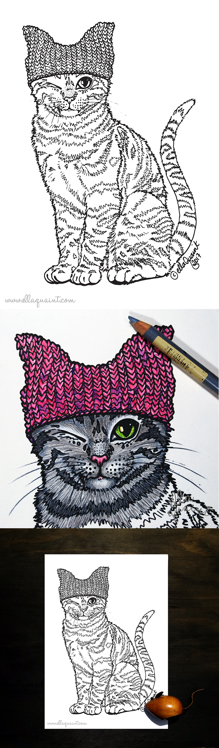 pink-pussy-hat-cat-by-ellaquaint-2017-flat