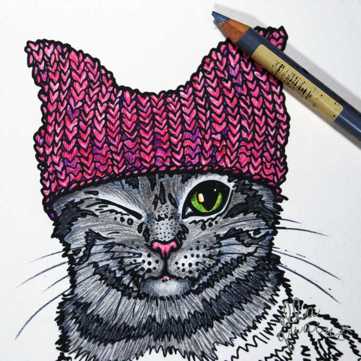 pink-pussy-hat-cat-by-ellaquaint-2017